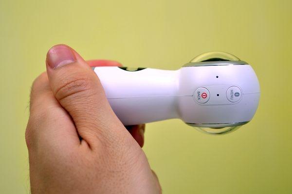 Samsung gear 360 botones circulares independientes