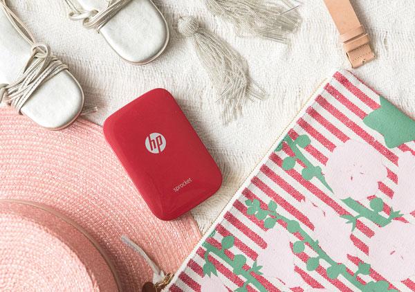 HP Sprocket en rojo caracteristicas