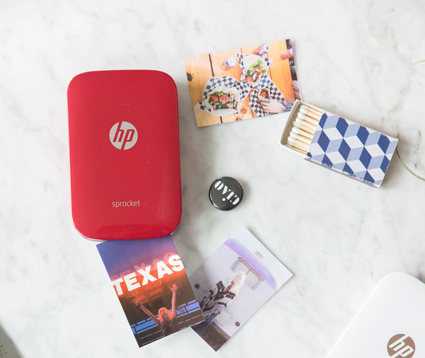 HP Sprocket en rojo aplicacion