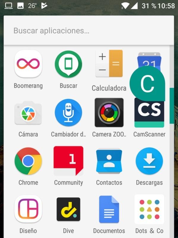 navega por las aplicación orden alfabetico google now