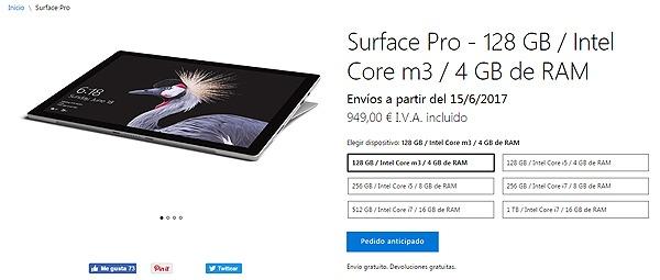 Microsoft Surface Pro y Surface Laptop, precio(valor) y fecha de salida en España