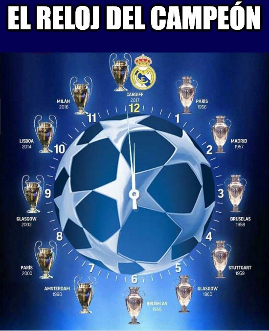 Real Madrid Campeón Champions League Reloj