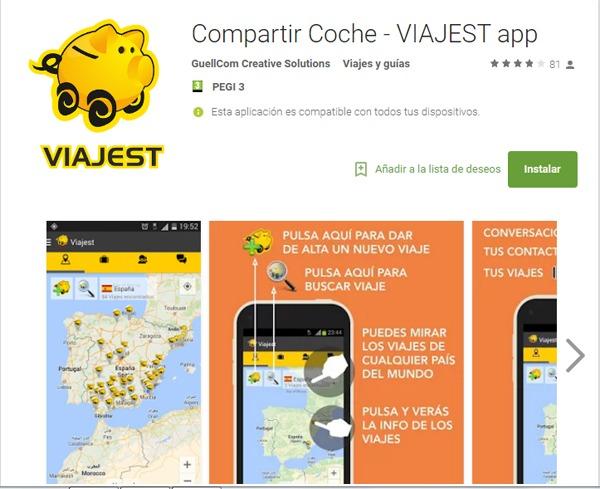 Las mejores apps para viajar en coche compartido