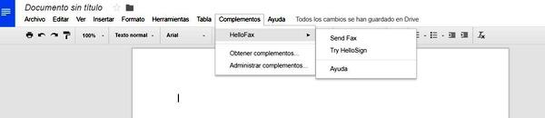 GoogleDocs ext HelloFax