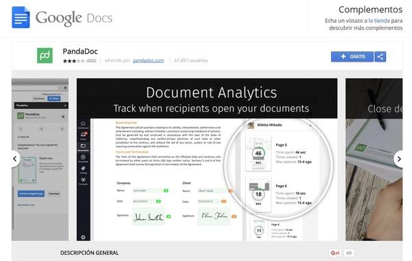 GoogleDocs ext PandaDoc