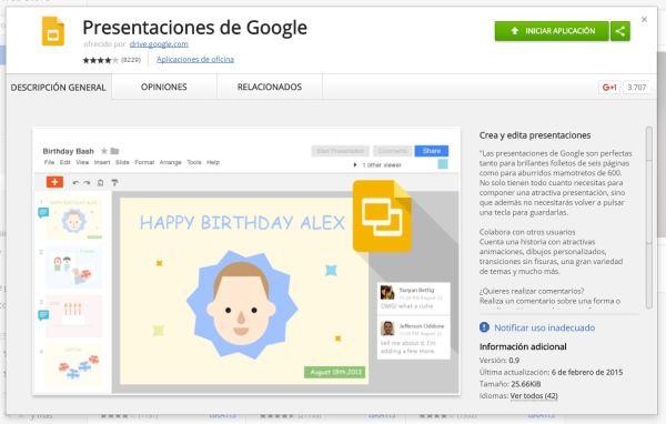 GoogleDocs ext presentaciones