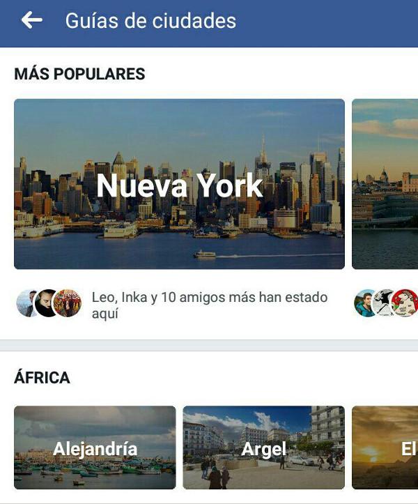 Trucos Facebook - Guia de ciudades