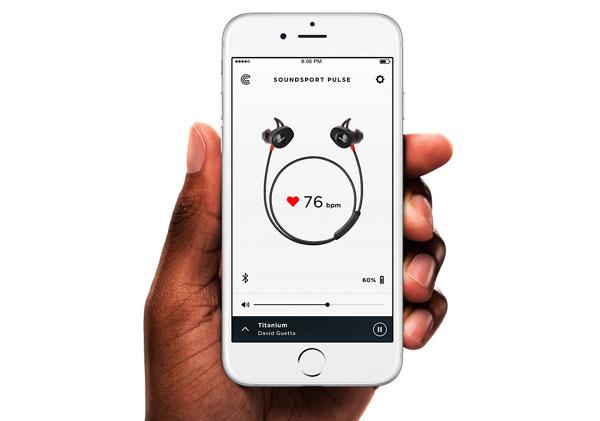 a fondo app Bose Connect ritmo cardiaco