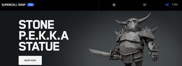 Así es la tienda oficial para adquirir figuras y camisetas de Clash Royale