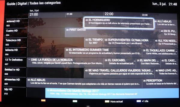 prueba Sony A1 OLED sistema operativo play store epg tv