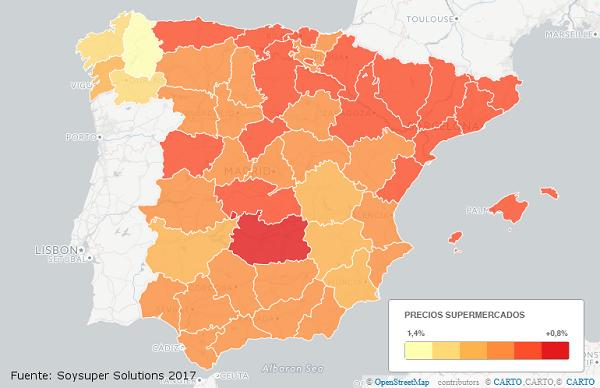 sitios de España(país) más caros para hacer la compra online