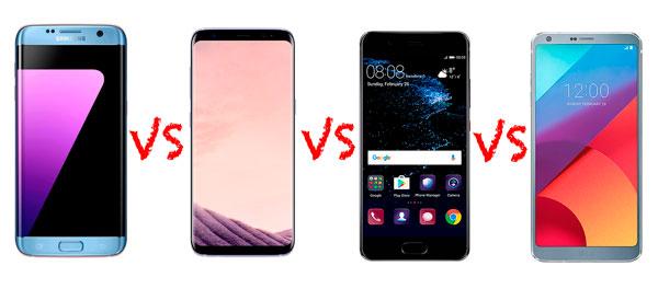 comparativa Samsung℗ Galaxy℗ S7 edge frente a móviles punteros de 2017 precios