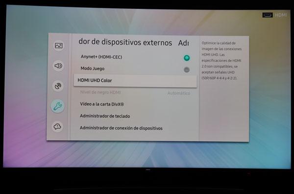 hemos demostrado Samsung QLED Q8C HDMI UHD