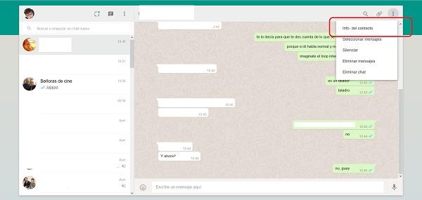 info de contacto whatsapp web