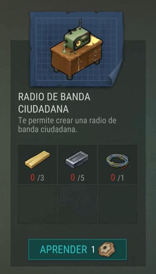 Ingredientes de la radio de facción ciudadana en Last Day on Earth