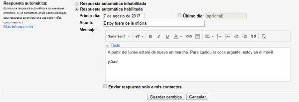 configurar contestación automática