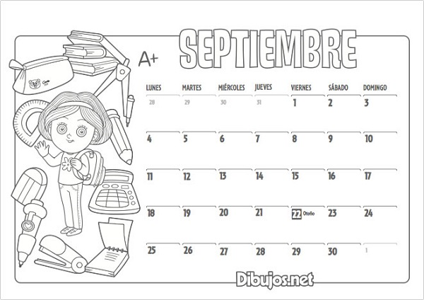 Calendario Escolar 2017 2018 Más De 100 Imágenes Para