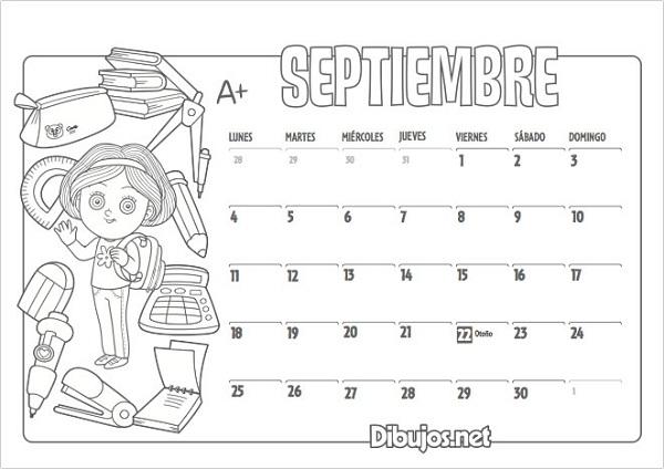 Calendario De Septiembre 2019 Para Imprimir Animado.Calendario Escolar 2017 2018 Mas De 100 Imagenes Para