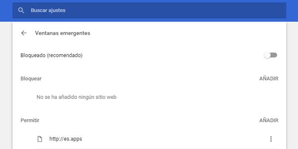 contenido web ventanas