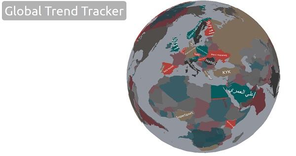 Mapa para proseguirse en directo las palabras más buscadas en Google