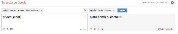 google translate tres