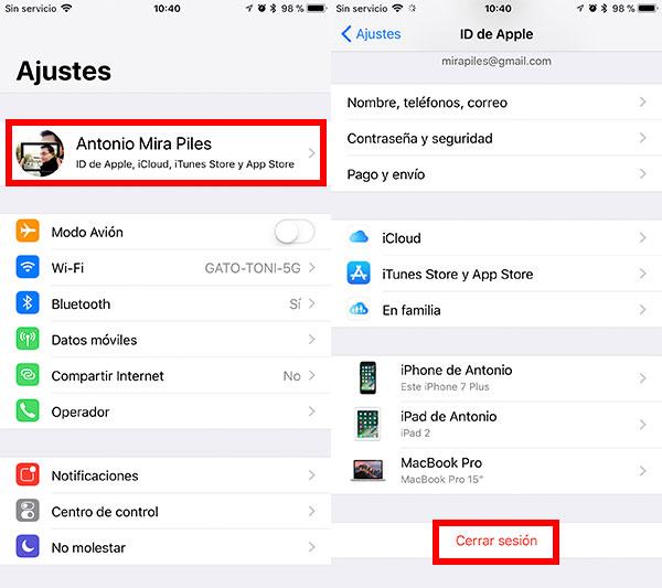 mejores consejos para vender iPhone cerrar sesión
