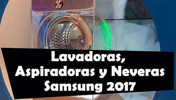 Así son las lavadoras, frigos y aspiradores de Samsung de 2017
