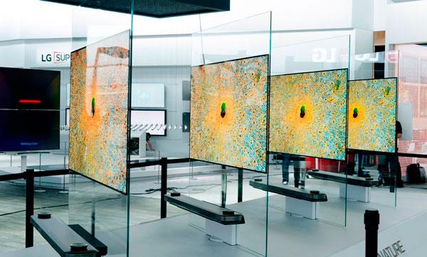 pantalla plana vs pantalla curva OLED plano