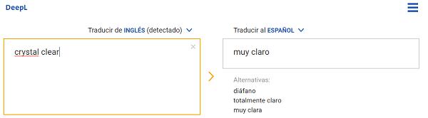 deepl traduccion tres