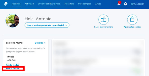 20 preguntas y contestación PayPal retirar fondos