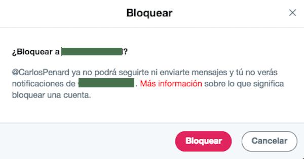 bloquear usuario twitter confirmar
