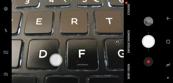 botón flotante en el Samsung Galaxy Note 8