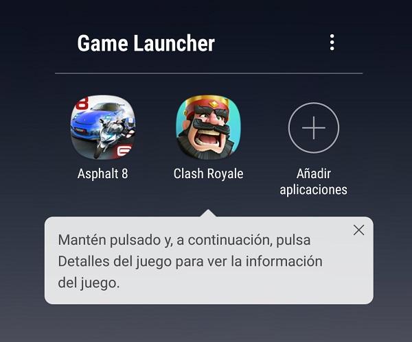 Game Launcher en Note 8