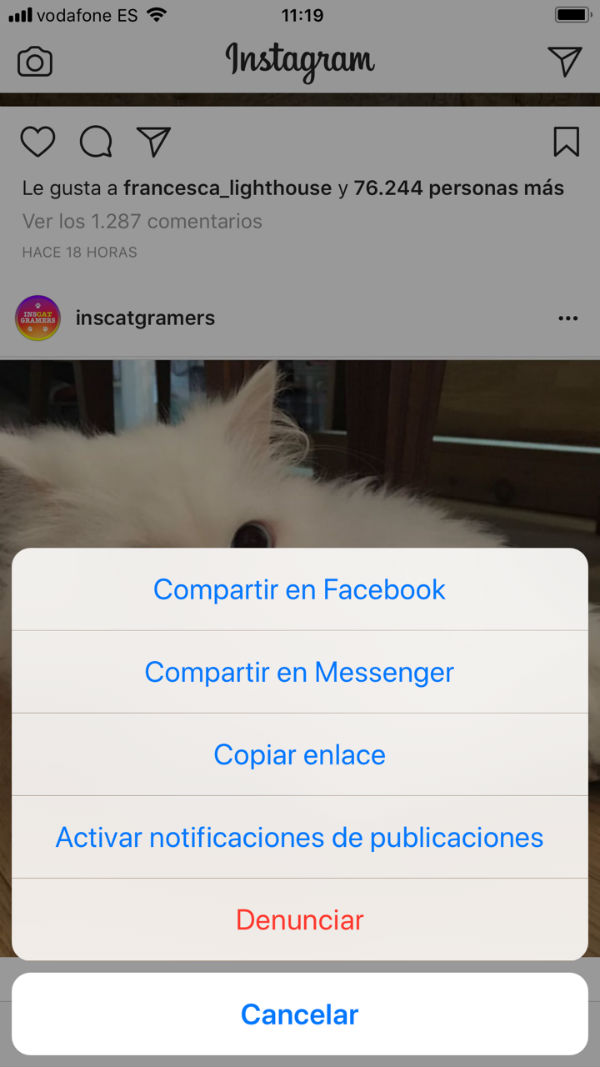notificaciones Instagram