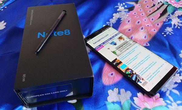 Samsung Galaxy Note 08 con caja y S Pen