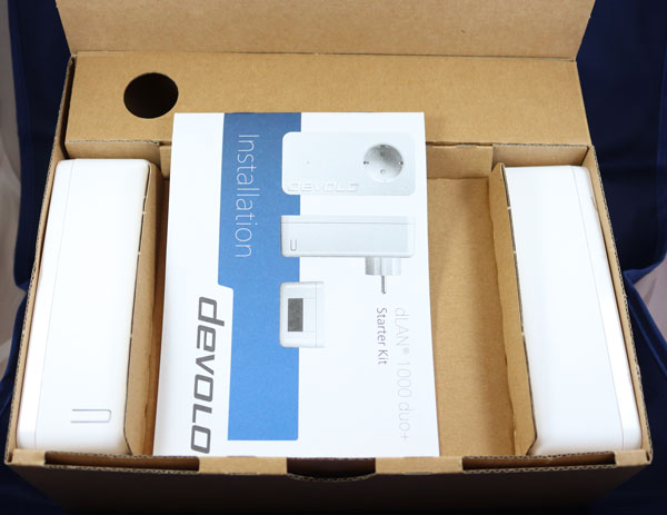 hemos probado Devolo dLAN 1000 duo+ caja por dentro