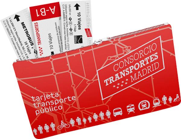 tarjeta transporte multi madrid