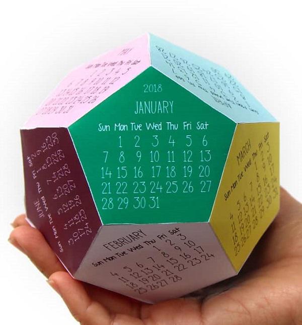 Calendarios para imprimir, recortar y montar