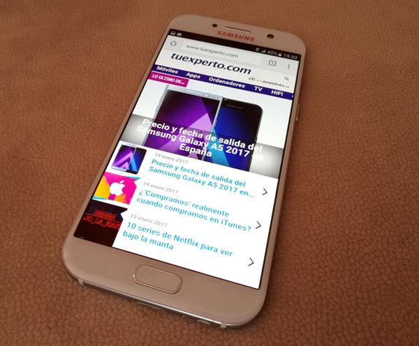 comparativa Samsung Galaxy A8 y A8+ vs Galaxy A3, A5 y A7 pantalla A5 2017