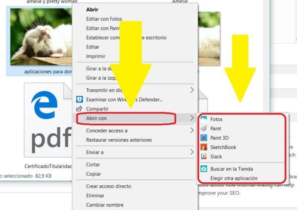 abrir imagen con aplicacion windows 10