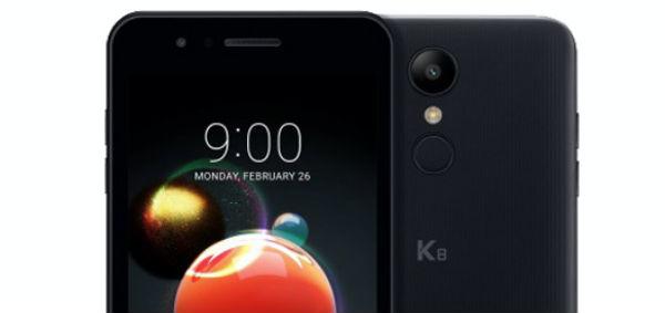 LG K8 2018 camara