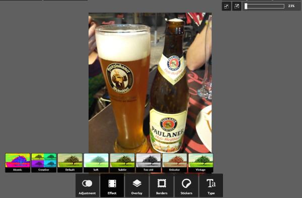 Mejorar calidad imagen Internet - Pixlr Express