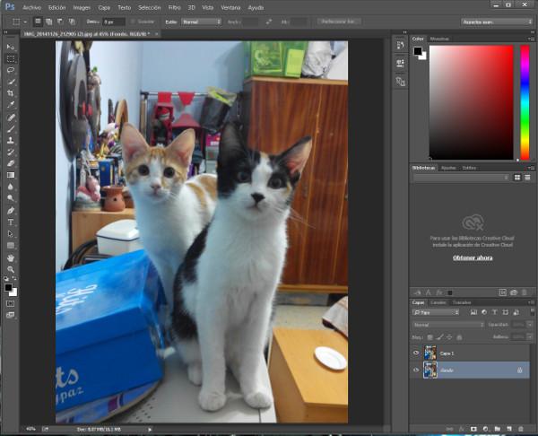 Mejorar una fotografía con Photoshop uno - Duplicar la capa