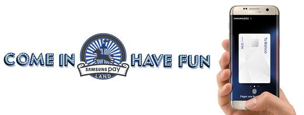 Samsung Pay Land, espacio para demostrar el pago con el movil de Samsung