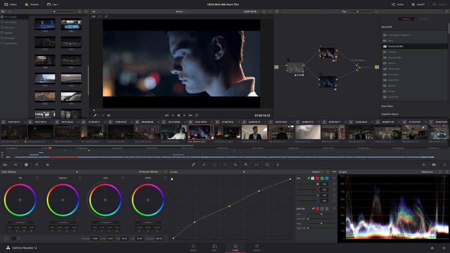 Programas de edicion de video gratis – DaVinci Resolve