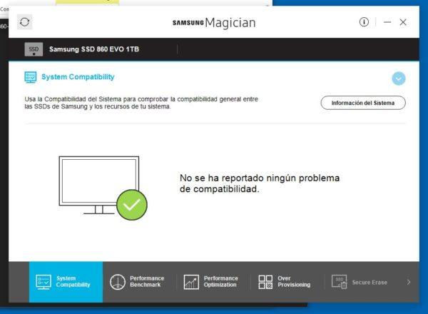 Samsung Magician herramienta(tool) ssd