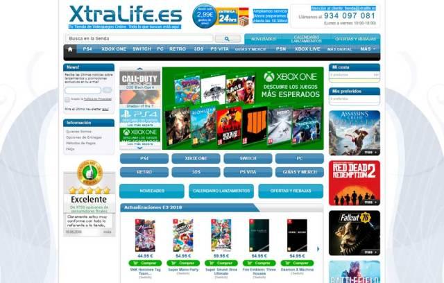 5 tiendas online para adquirir games a buen precio(valor) XtraLife