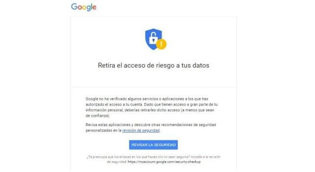 Revisar y retirar permisos en Google