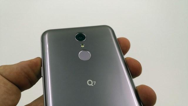LG Q7 lector huellas