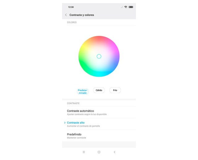 hemos probado Xiaomi℗ Mi 8 ajustes color